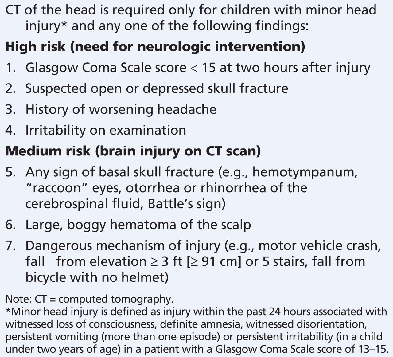 raccoon eyes head injury