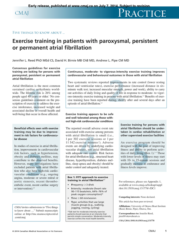 Exercise training in patients with paroxysmal persistent or pdf extract preview stopboris Choice Image