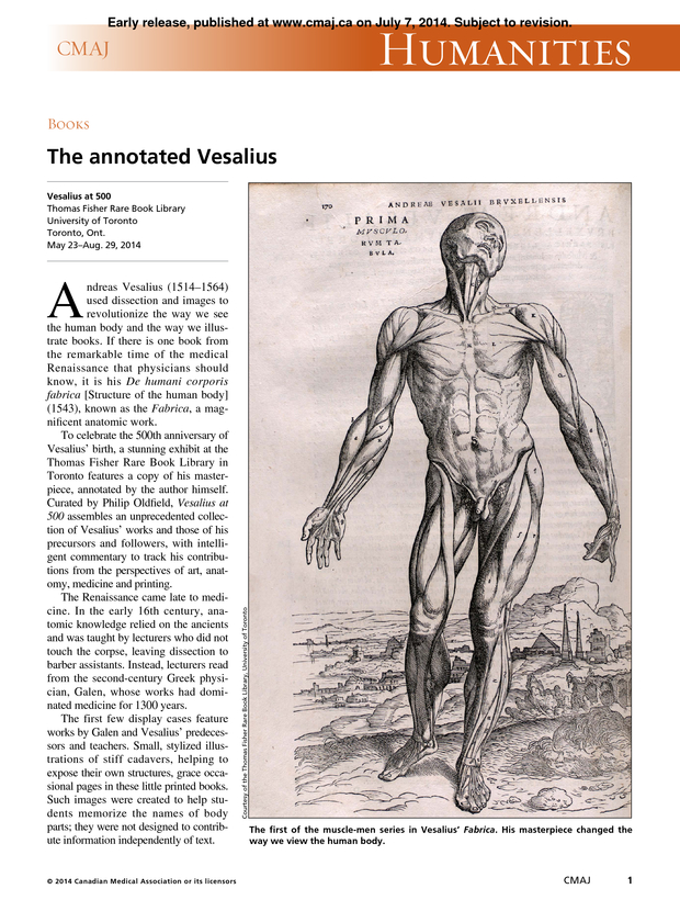 The Annotated Vesalius Cmaj