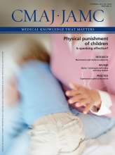 Canadian Medical Association Journal: 184 (12)
