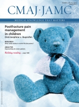 Canadian Medical Association Journal: 186 (18)