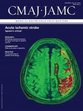Canadian Medical Association Journal: 187 (12)