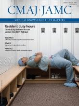 Canadian Medical Association Journal: 187 (5)