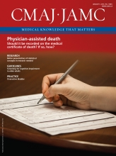 Canadian Medical Association Journal: 188 (1)
