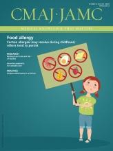 Canadian Medical Association Journal: 188 (15)